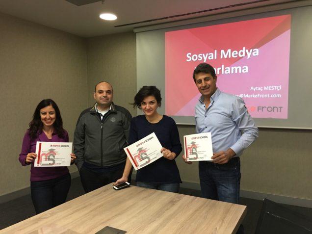 MarkeFront - Sosyal Medya Pazarlama Eğitimi 4 Kasım'da Yapıldı