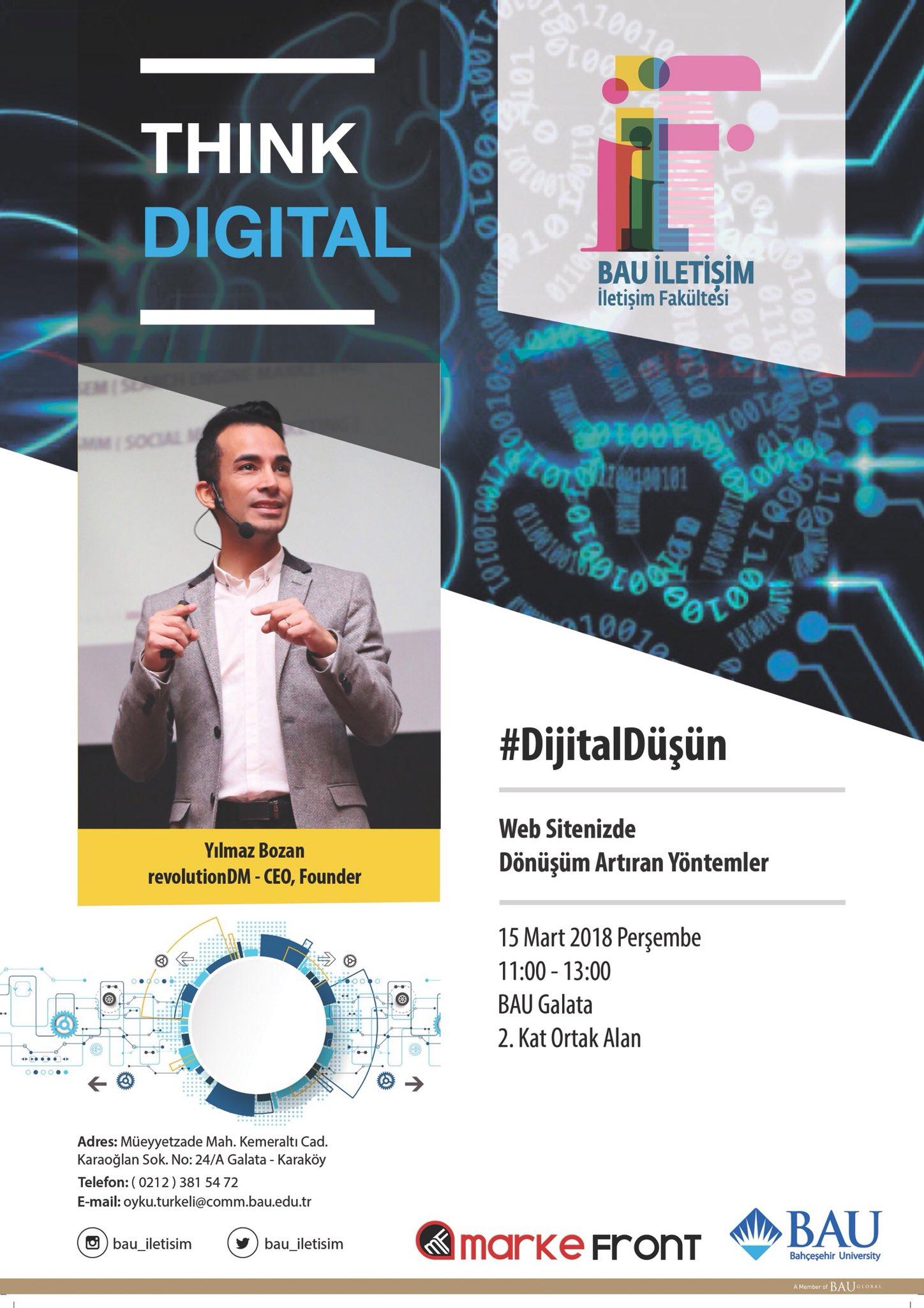 Think Digital / Dijital Düşün Seminerleri Yılmaz Bozan ile Başlıyor