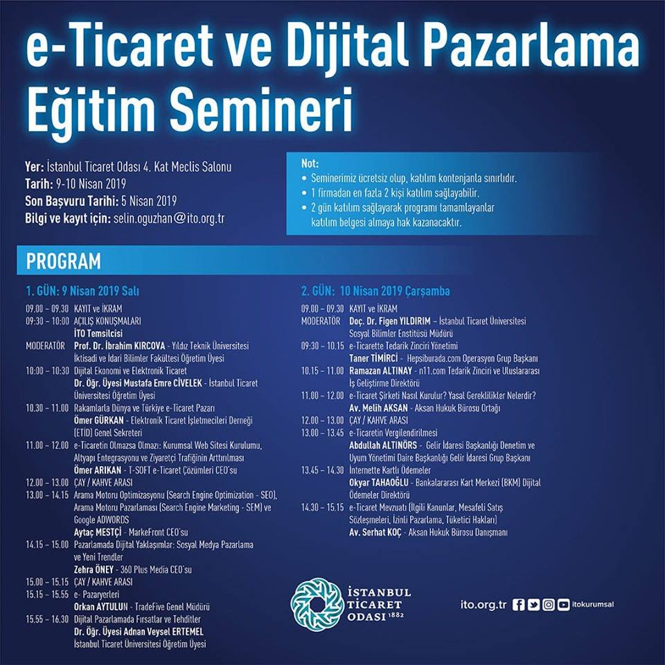 İTO | e-Ticaret ve Dijital Pazarlama Eğitim Semineri